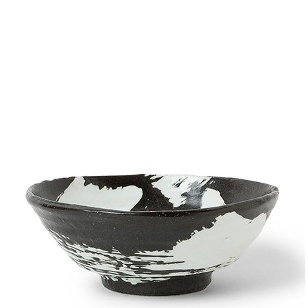 White Brush Stroke Design Ceramic Everyday Bowls Made In Japan Available At Miya
