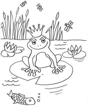 Marchen Froschkonig Zum Ausmalen Marchen Basteln Frosch Malvorlagen Ausmalbilder