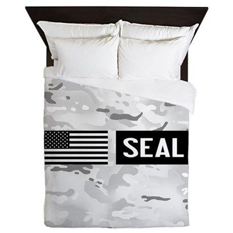 U S Navy Seal Arctic Queen Duvet On Cafepress Com Queen