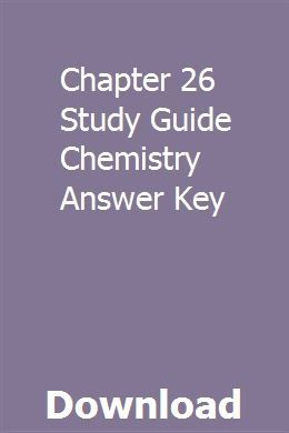Chapter 26 Study Guide Chemistry Answer Key Organic Chemistry Study Chemistry Study Guide Study Guide