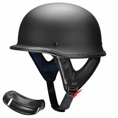 Harley WWII German Style Motorcycle Half Helmet Skull Cap Biker Chopper Novelty