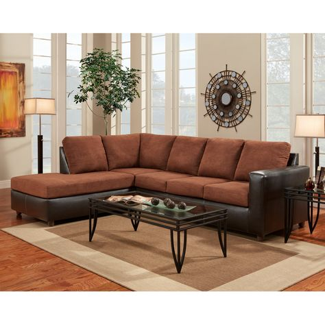 b home aruba chocolate microfiber l shaped sectional in 2019 rh pinterest ie
