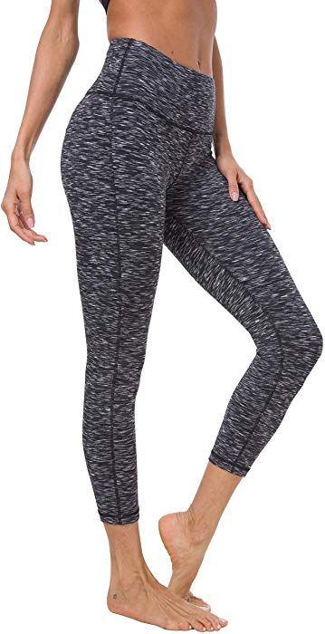 Sports Power Flex Yoga Leggings Pants Tummy Control Workout Womens Space Yoga Capris Pants