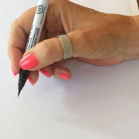 Brush pen hand lettering video