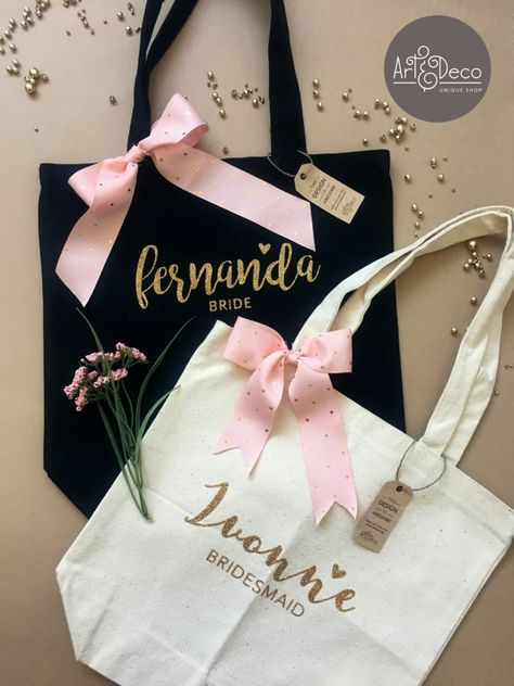 BRIDESMAID GIFT TOTE / Bridesmaid Bag / Bridesmaid Gift /
