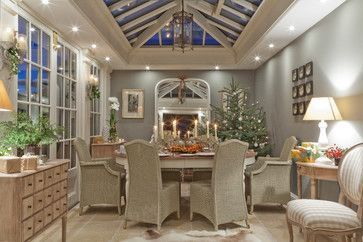 Christmas In A Conservatory Traditional Sunroom Other Metro Vale