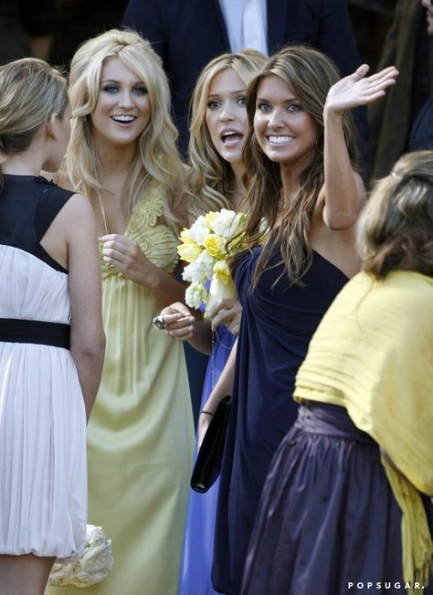 Pin for Later: Can You Spot All the Famous Wedding Guests?  Stephanie Pratt, Kristin Cavallari, and Audrina Patridge smiled at Heidi Montag and Spencer Pratt's LA nuptials in April 2007.