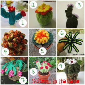 Composizione di cactus | Cactus all'uncinetto, Cactus, Fiori all ... | 290x290