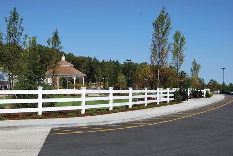Post And Rail Perimeter Fence Merrimack Premium Outlet Merrimack