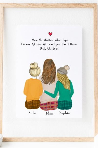 Personalized Daughter And Mom Wall Art In 2020 Creative Birthday Gifts Gifts For Your Mom Unique Personalized Gift
