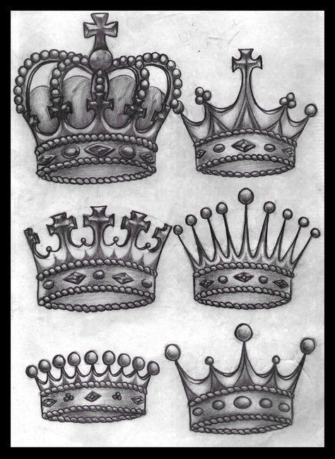 Inspirational tattoos Killer King Crown Tattoo