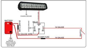 Led Light Bar Relay Wire Up Polaris Rzr Forum Rzr Forums Net Bar Lighting Led Light Bars Automotive Electrical