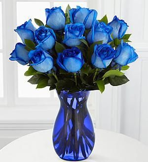 Extreme Blue Hues Fiesta Rose Bouquet 12 Stems In 2020 Blue Rose Bouquet Rose Bouquet Beautiful Bouquet Of Flowers
