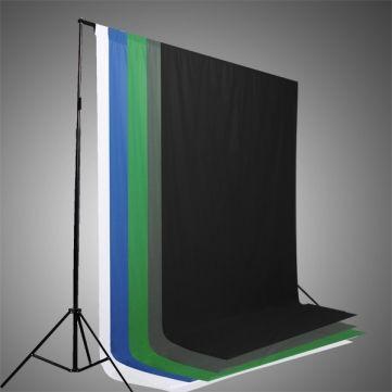 Backdrops - Black White Blue Green Chromakey Backdrop 6x9