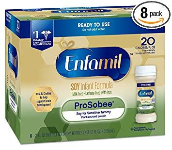 Enfamil Prosobee Soy Based Infant Formula Lactose Free For Sensitive Tummies Ready To Use Nursette Review Baby Formula Sensitive Tummy Lactose Free