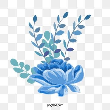 Cartoon Hand Drawn Blue Flowers Illustration Blue Flower Exquisite Png Transparent Clipart Image And Psd File For Free Download Flower Illustration Watercolor Flower Background Watercolor Flower Illustration