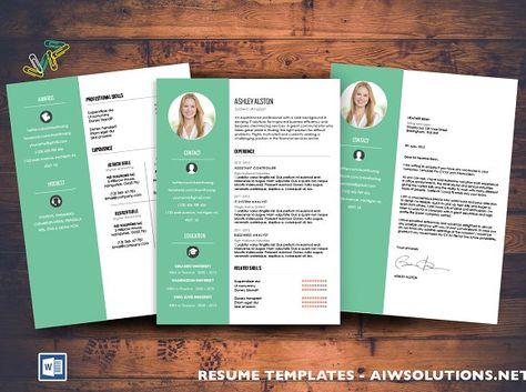 2 Page Resume \ Cover Letter by Glowing Pieces on @creativemarket - 2 page resume