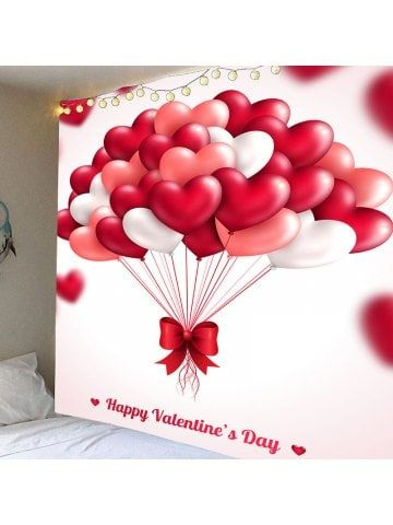 Valentine S Day Heart Balloon Pattern Wall Art Hanging Tapestry Happy Valentines Day Card Happy Valentines Day Happy Valentine