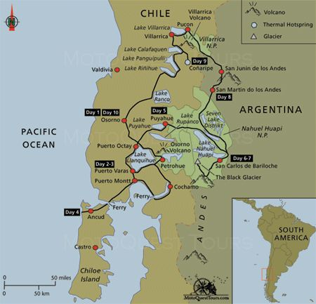 Best Northern Patagonia Motorcycle Adventure Images On - Argentina map mountains