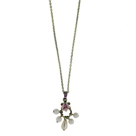 Brilliant Embers Sterling Silver Rhodium-plated Brown /& White CZ Heart Pendant Necklace 18 2 Extender