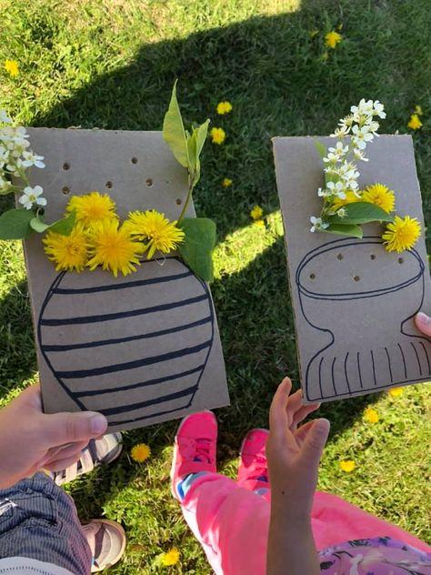 Nature Activities, Spring Activities, Craft Activities For Kids, Toddler Activities, Preschool Activities, Kids Nature Crafts, Family Activities, Crafty Kids, Spring Crafts