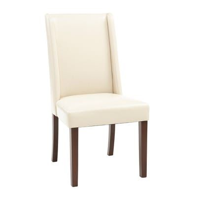 Enjoyable Oliver Ivory Faux Leather Dining Chair Furnature Shopping Evergreenethics Interior Chair Design Evergreenethicsorg