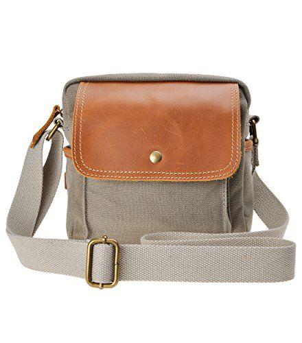 Camera Backpack Case Waterproof Canvas Leather Trim DSLR SLR Shockproof Camera Shoulder Messenger Bag/ Multi-Function Camera Cases Color : Grey