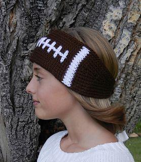 Football Headband Earwarmer Pattern By Kismet Crochet Knitting