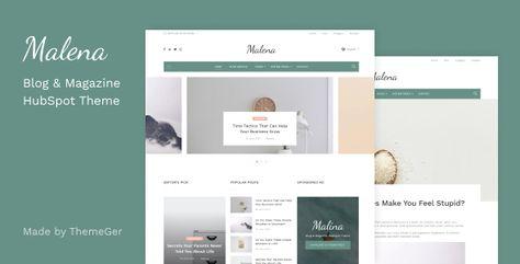 Malena — Blog & Magazine HubSpot Theme   Stylelib
