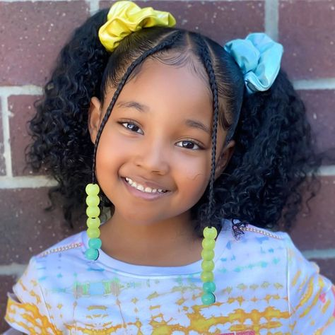 Little Girls Natural Hairstyles, Cute Hairstyles For School, Cute Simple Hairstyles, Natural Hairstyles For Kids, Kids Braided Hairstyles, Natural Hair Styles, Black Little Girl Hairstyles, Mixed Kids Hairstyles, Fine Hairstyles