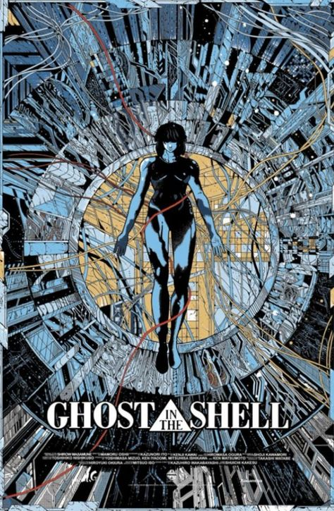 Print Art Decor 1995 Ghost in the Shell Fabric Silk Movie Poster