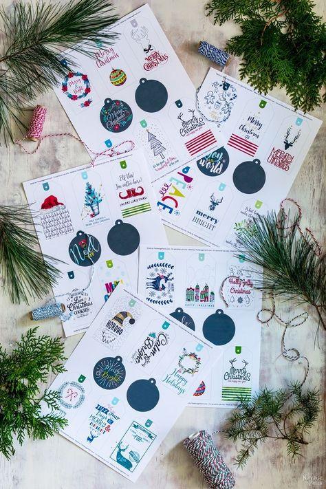 35 Free Printable Christmas Gift Tags| Free Printable #Christmas Gift Tags | Easy, budget friendly Christmas gift wrapping | Beautiful DIY Christmas gifts | #ChristmasFreePrintable | #FreePrintable Festive #GiftTags | TheNavagePatch.com