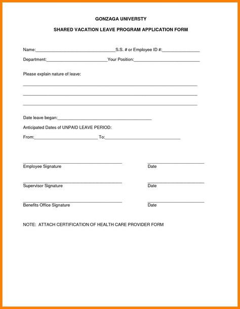 Application For Leave Form Odainable Mcewan Mcewano On Pinterest