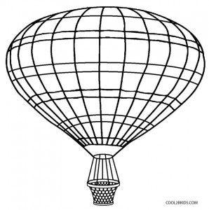 Hot Air Balloon Basket Coloring Page Air Balloon Balloons Hot