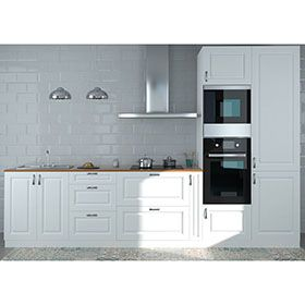 Composicion De Cocina Delinia Gales Blanco 365 Cm Muebles De Cocina Muebles Cocinas