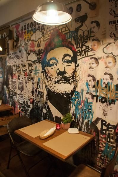 20 of the best wall murals in restaurants around the world! (Updated List)    Mural, Wall murals, Cool walls