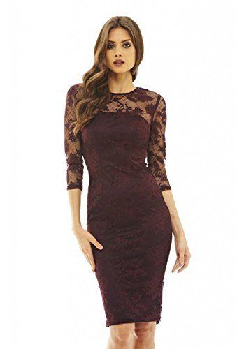 43++ Ax paris plum lace midi dress ideas