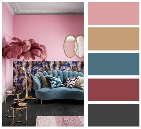 Living Room Pink And Blue Color Modern And Classic Interior Style Planner 5d Classic Style Interior Living Room Color Schemes Interior Design Tools