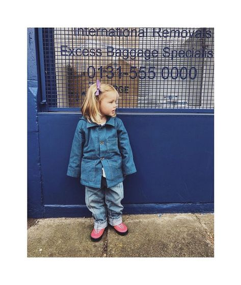Twice the denim twice as good! Wren is styling our denim jacket with pippins denims jeans .sarahlferguson