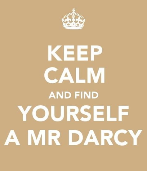 find yourself a mr. darcy