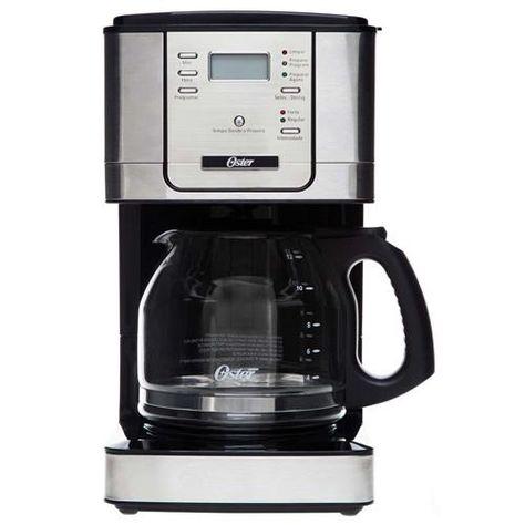 Cafeteira Programável Oster Flavor para 36 Xícaras - Preta/Inox | Cafeteira  oster, Cafeteira elétrica e Cafeteiras