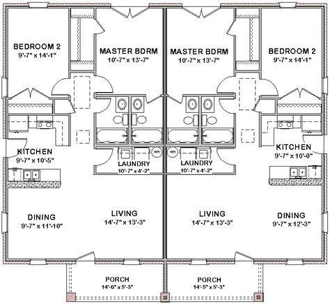 New House Plans Duplex Bath Ideas Duplex Floor Plans Cottage Floor Plans Duplex House Plans