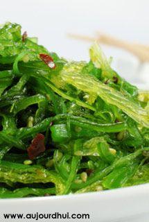 Salade d'algues Wakamé (algues séchées, agar-agar, graines de sésame) - Recette salade - Aujourdhui.com