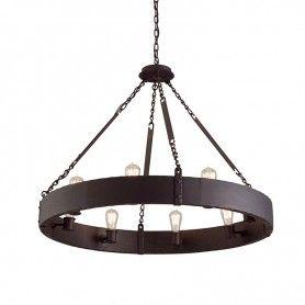 Jackson Chandelier Copper Bronze Iron Troy Lighting F2504cb