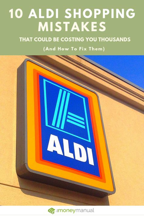 When I found out how much money people waste at Aldi because of these simple mistakes, I was shocked. Find out how many you're making and the easy fix for each. #aldi #familyfoodbudget Family Finance Made Easy