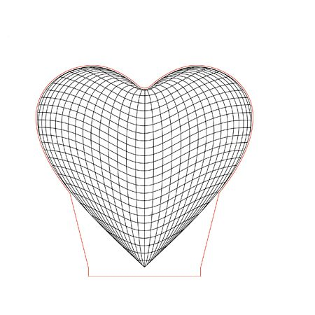Heart 3d Illusion Lamp Vector Caixa De Sombra Luminarias Led Luminaria 3d