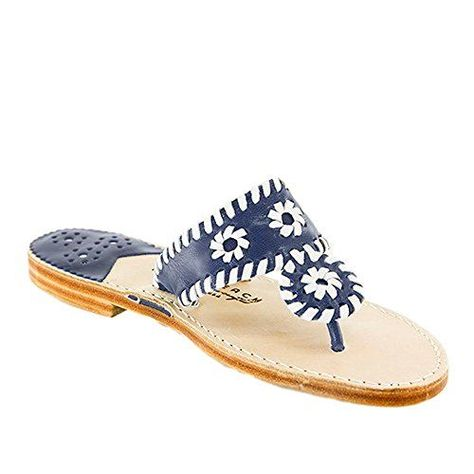 1b26243fe71374 The Original Palm Beach Classic Sandal 6 BM US Navy White     You ...