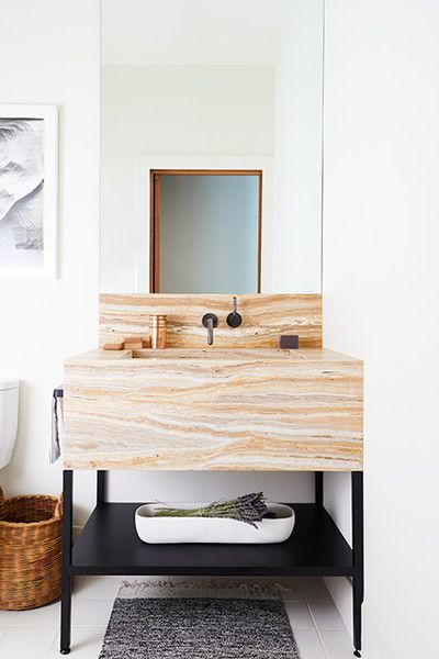 Stylish Sink - This Modern Masculine S.F. Reno Has An Eclectic Edge - Photos