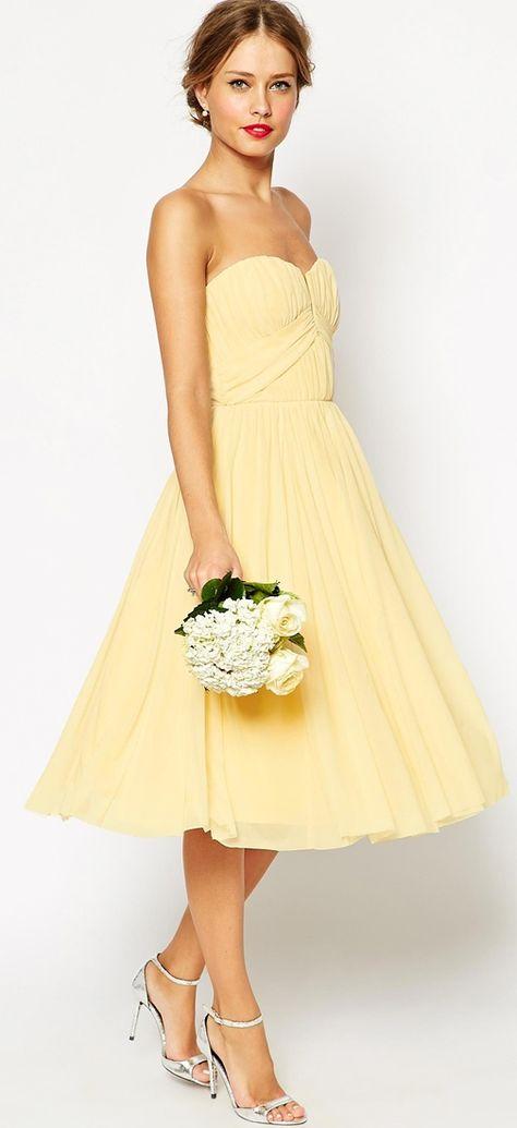 Sunny yellow http://www.theperfectpalette.com/2015/06/bridesmaid-dresses-that-wont-break-bank.html