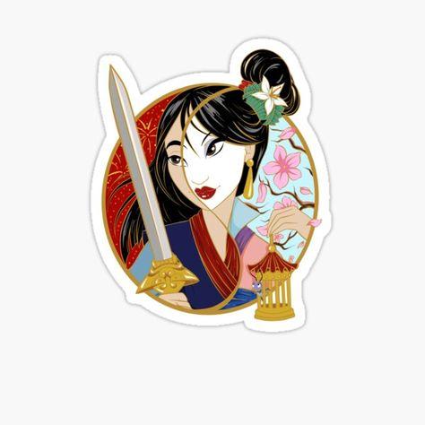 Pegatinas: Mulan | Redbubble